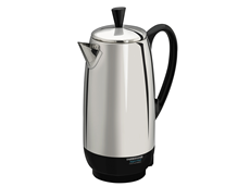 2-12 Cup* Electric Percolator, Stainless Steel | FCP412