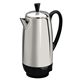 2-12 Cup* Electric Percolator, Stainless Steel