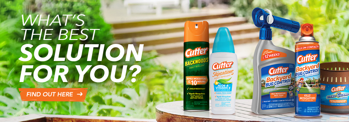 What's the Best Solution For You Banner - Cutter insect repellents spread out on picnic table