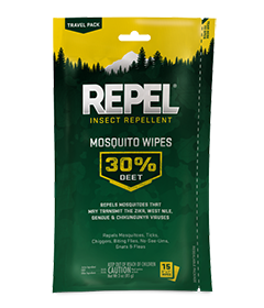 Repel Insect Repellent Mosquito Wipes 30% DEET