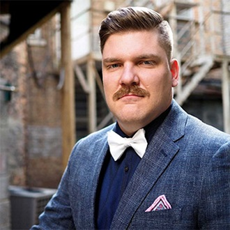 Remington beard boss Matt Hamilton in a suit