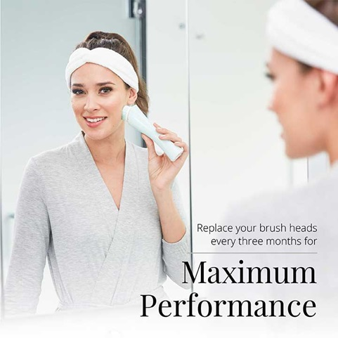 Replace your brush heads every three months for maximum performance