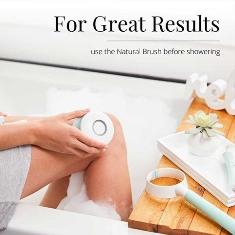 For Great Results use the natural brush before showering | SP-BB2B