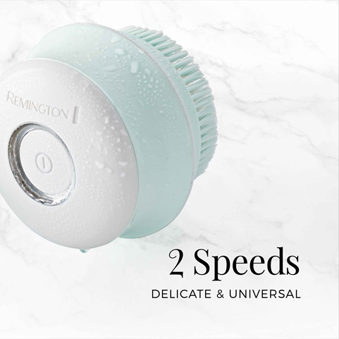 remington reveal rotating body cleansing brush with 2 speeds bb1000b