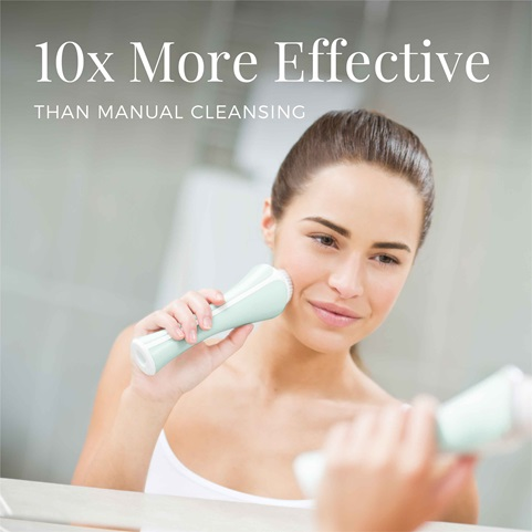 remington reveal facial cleansing brush 10 times more effective than manual brushing fc1000