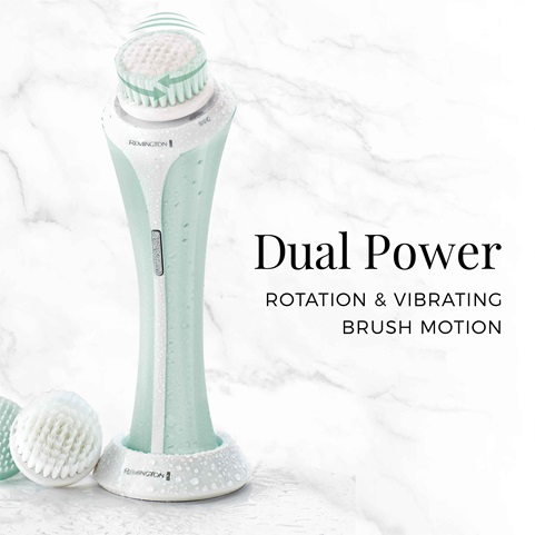 remington reveal facial cleansing brush with dual power fc1000