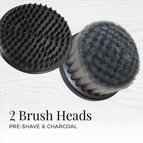remington reveal mens compact facial cleansing brush with 2 brush heads fc1500b