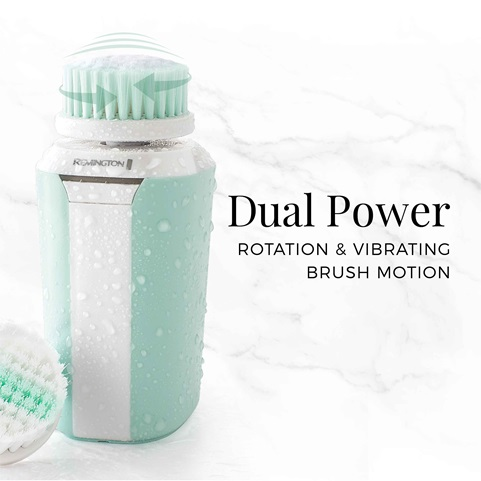 remington reveal compact facial cleansing brush with dual power fc500