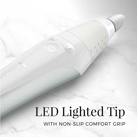 LED Lighted Tip with non-slip comfort grip