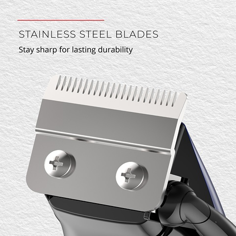 Stainless Steel Blades. Stay sharp for lasting durability