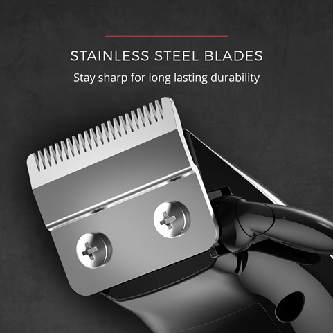 Stainless Steel Blades. Stay sharp for long lasting durability.