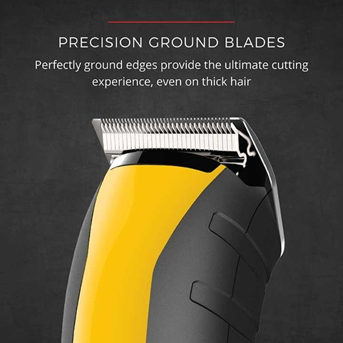 Precision Ground Blades provide the ultimate cutting experience, even on thick hair
