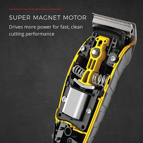 Super Magnet Motor drives more power for fast, clean cutting performance