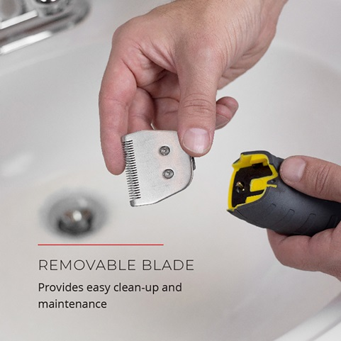 Removable blade. Provide easy clean-up and maintenance.