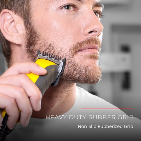 Heavy duty rubber grip. Non-slip rubberized grip.