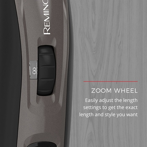 Zoom Wheel easily adjust the length settings to get the exact length and style you want