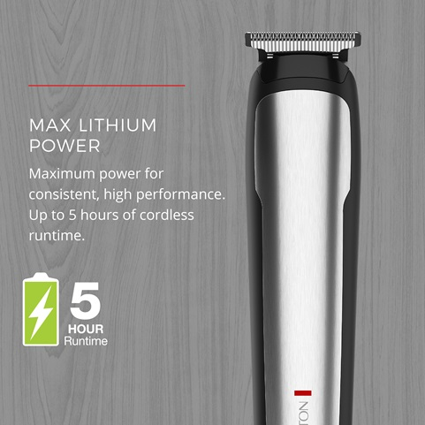 Max Lithium Power - Maximum power for consistent, high performance. Up to 5 hours of cordless time.