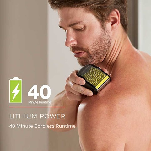 Lithium Power - 40 minutes of cordless runtime