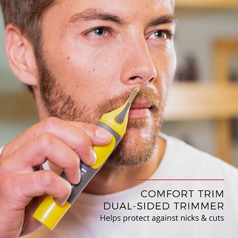 Comfort Trim Dual Sided Trimmer - Helps protect against nicks and cuts