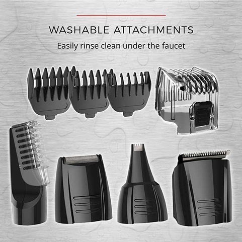 Washable Attachments | Easily rinse clean under the faucet