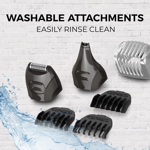Washable Attachments - Easy Rinse Clean