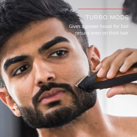 Turbo Mode gives a power boost for fast results even on thick hair.