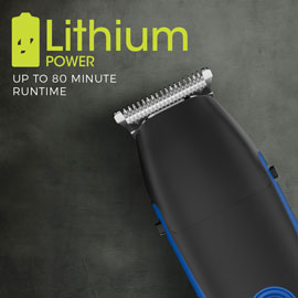 Lithium Power. Up to 80 minutes cordless runtime.