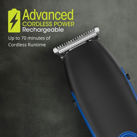 Advanced cordless rechargeable power. Up to 70 minutes of cordless runtime.