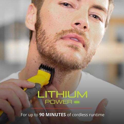 Lithium Power. For up to 90 minutes of cordless runtime