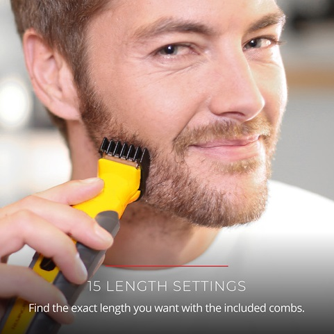 15 Length Settings. Find the exact length you want with the included combs.