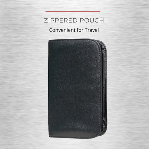 Zippered pouch. Convenient for travel
