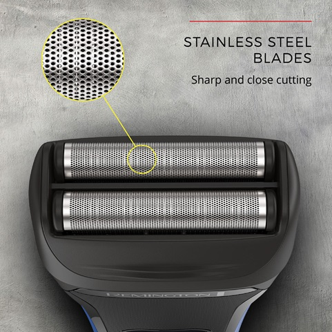 Stainless Steel Blades. Sharp and close cutting.