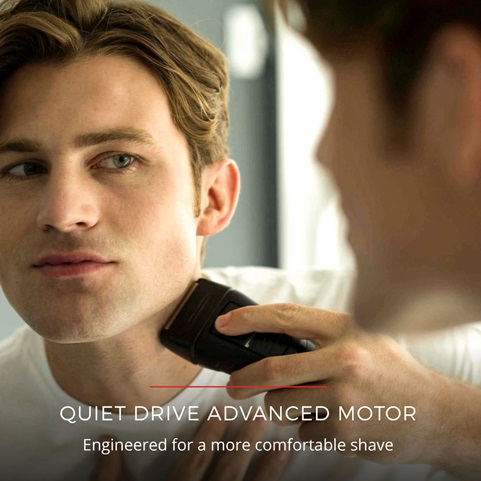 Quiet Drive Advanced Motor. Engineered for a more comfortable shave.