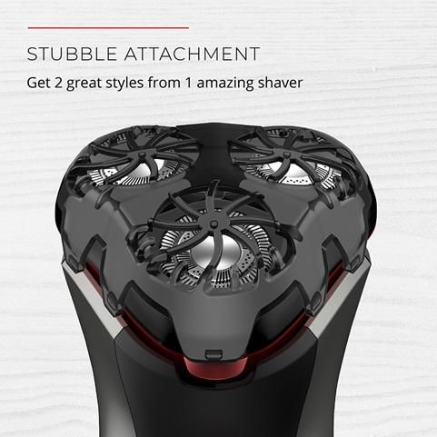Stubble Attachment. Get 2 great styles from 1 amazing shaver