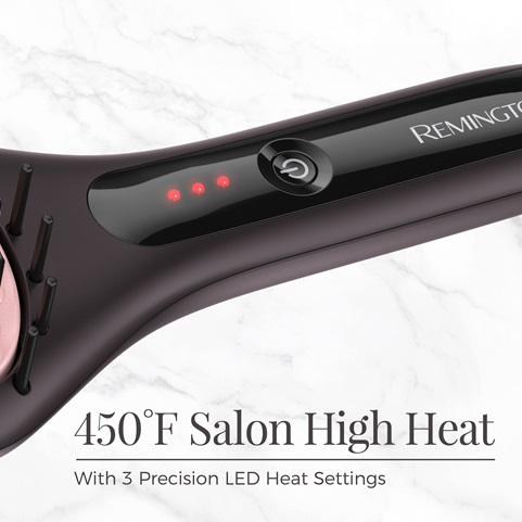 450 degrees fahrenheit high heat. With 3 precision LED heat settings