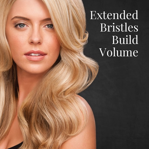 Extended bristles build volume
