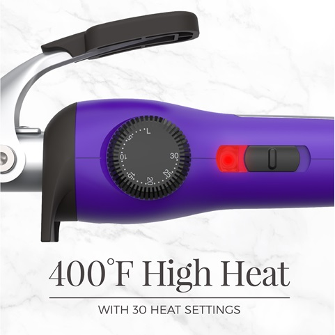 400 degrees fahrenheit high heat. With 30 heat settings