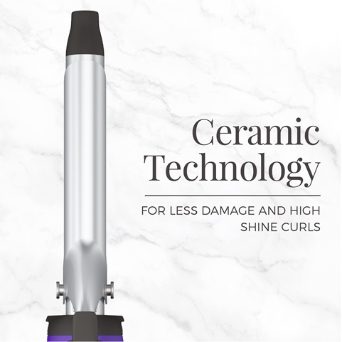 Ceramic Technology. For less damage and high shine curls
