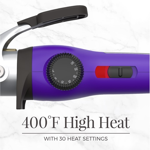 400 degrees fahrenheit high heat with 30 heat settings