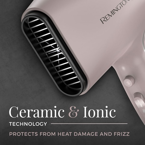 Ceramic and Ionic technology. Protects from heat damage and frizz.