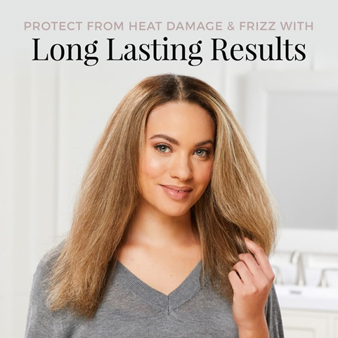 Protect from heat damage and frizz with long lasting results