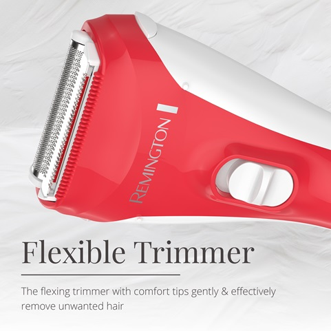 Flexible trimmer with comfort tips gently and effectively remove unwanted hair