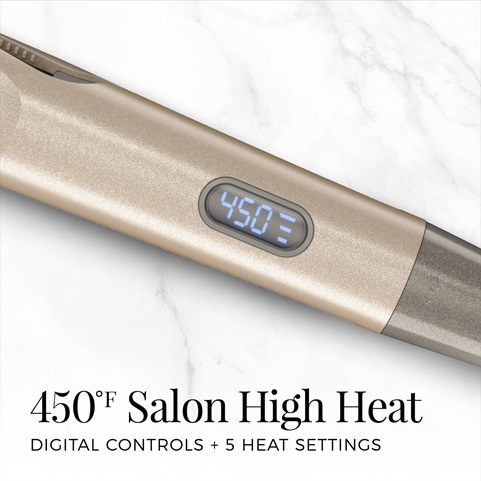 450 Degree Salon High Heat | Digital Controls + 5 Heat Settings