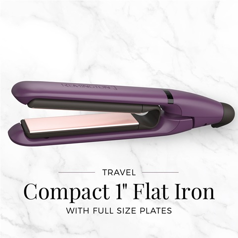 Travel Compact 1 Inch Flat Iron with full size plates