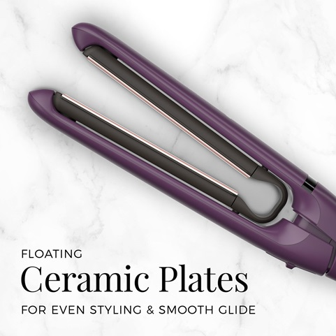 Floating ceramic plates for even styling and smooth glide