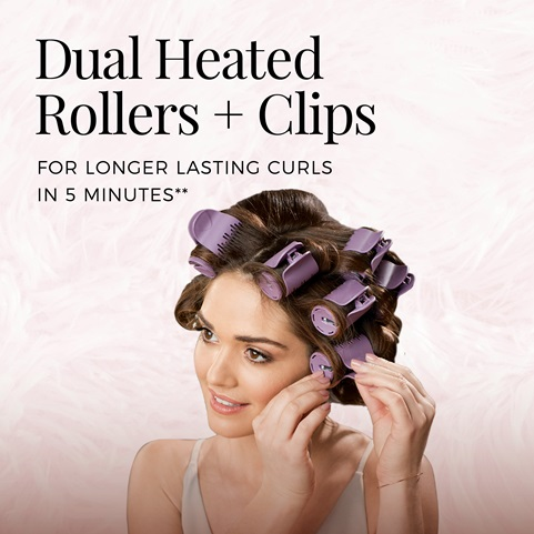 dual heated rollers + clips