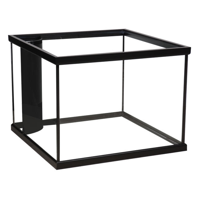 corner flo black rectangular aquarium marineland