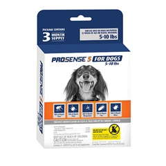 Pro·Sense 5 Flea and Tick Solutions for Dogs 5-10 lbs