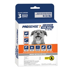 ProSense 7 Advanced Flea and Tick Solutions for Dogs 11 to 32 lbs