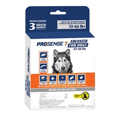 ProSense 7 Advanced Flea and Tick Solutions for Dogs 33 to 66 lbs